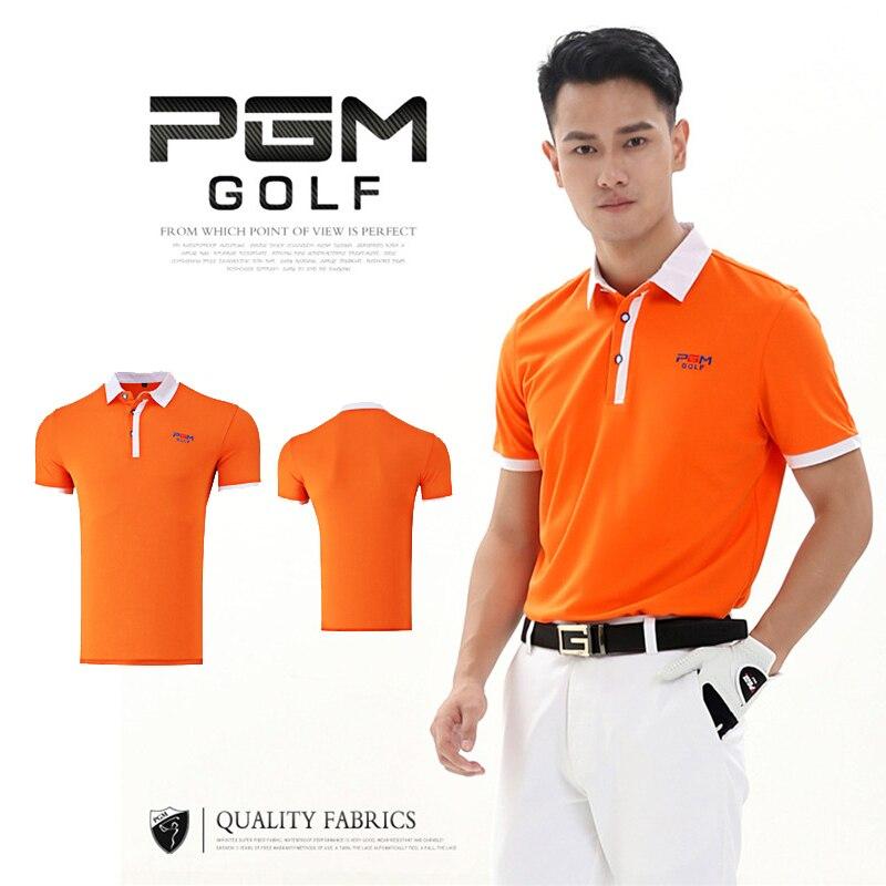 ec43732a PGM Outdoor Men's Golf Tshirt Short-sleeve Men Clothing Short Quick Dry  Cotton Absorbent Breathable Collar Mens T-shirts XXL