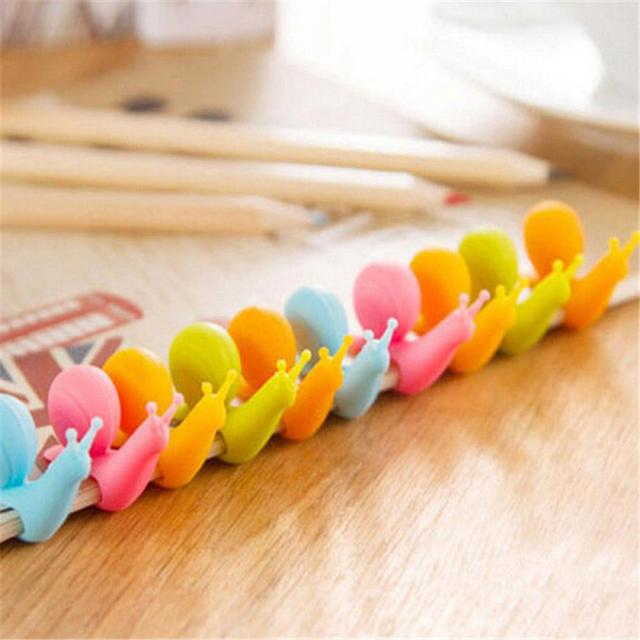 Cute Snail Shape Tea Bag Holder silicone kitchen gadgets