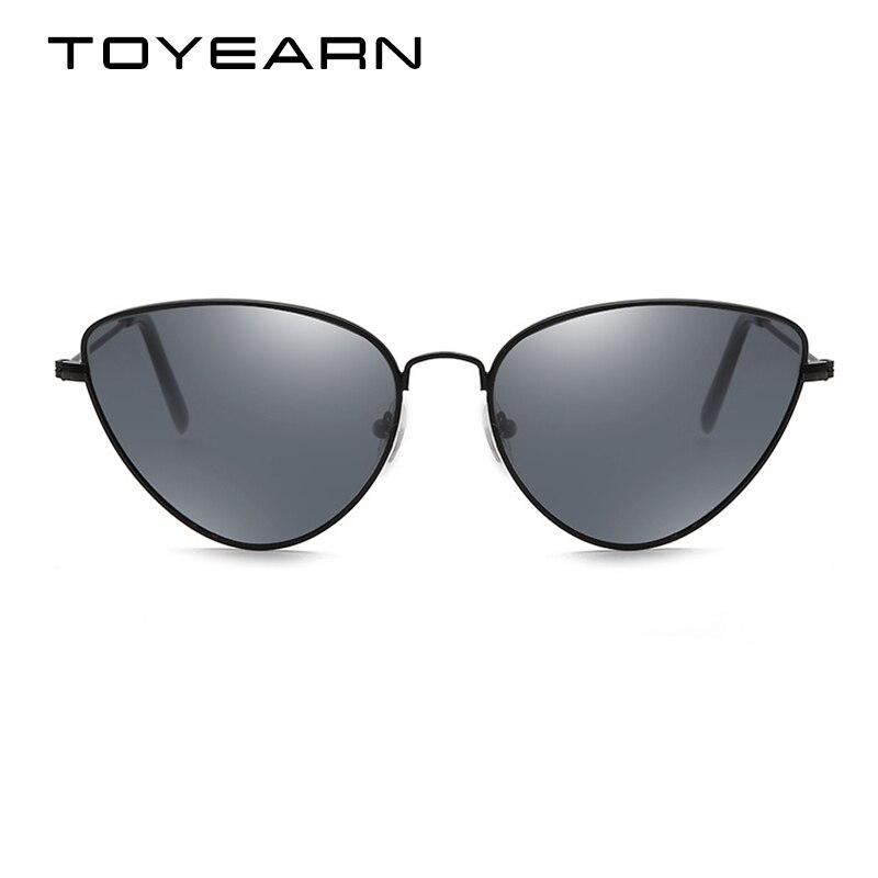 f02d63920dcfd TOYEARN Senhoras Sexy Olho de Gato Do Vintage Óculos De Sol Das Mulheres Da  Moda Vermelho Claro Eyewear UV400 óculos de Armação de Metal Óculos de Sol  Para ...