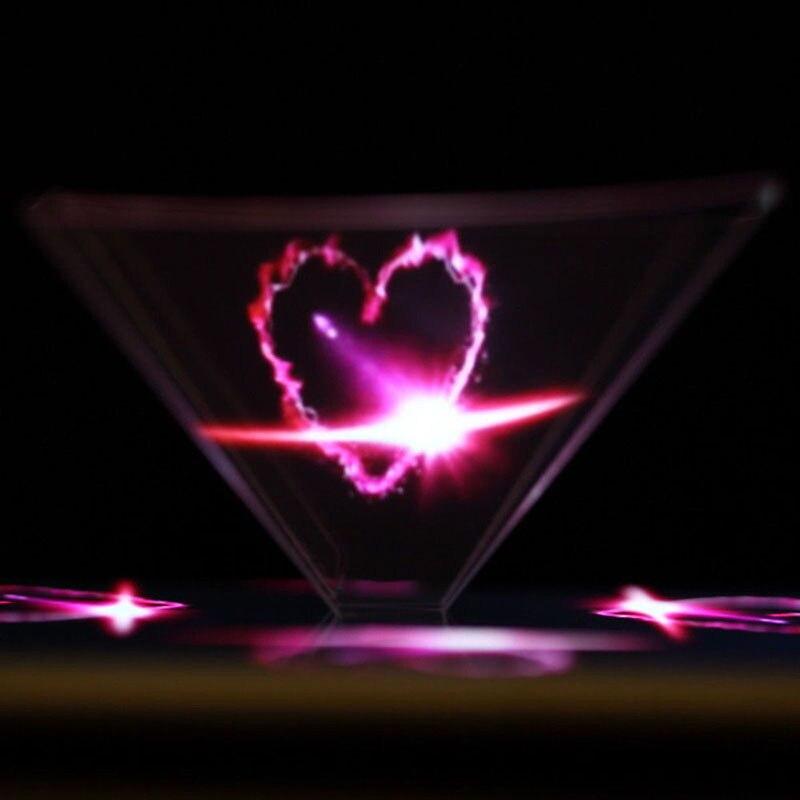 3d Hologramm Pyramide Display Projektor Video Ständer Universal Für Smart Handy Qjy99
