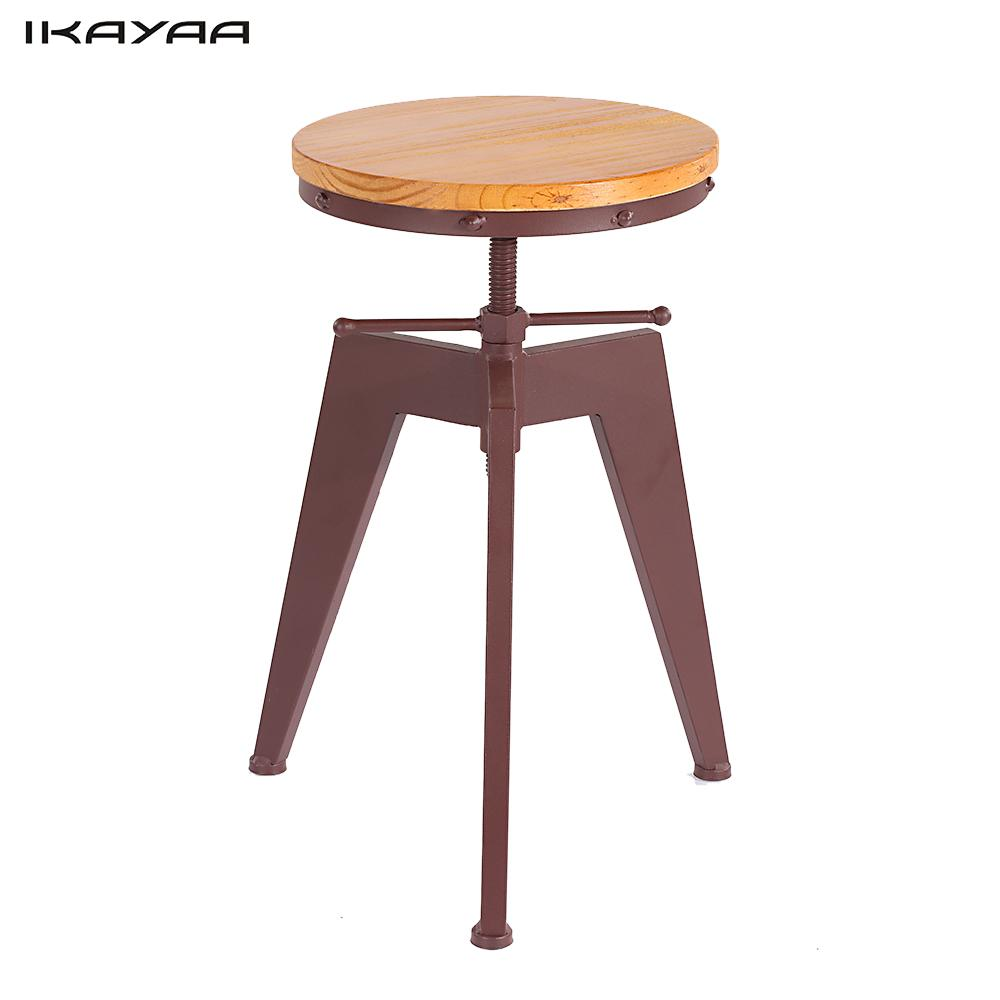 Furniture Industrial Chairs Quality Metal Bar Stool High Stool Bar Chair Front Desk Bar Chair Warm And Windproof