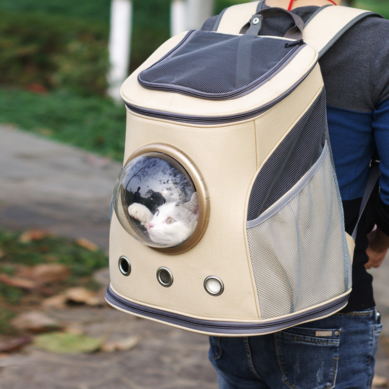 NOUVEL Espace Capsule En Forme de Pet Carrier Respirant Pet Sac À Dos Pet Chien À L'extérieur Voyage Sac Portable Sac Chat Sacs