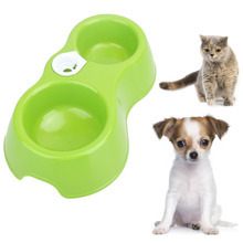 Durable Plastic Automatic Pet Feeder Water Food Dispenser Puppy Dog Drinking Bowl Double Use for Dog Cats