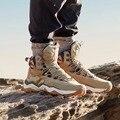 RAX мужские треккинговые ботинки  водонепроницаемые уличные кроссовки средней высоты  мужские кожаные треккинговые ботинки  походные альпи...