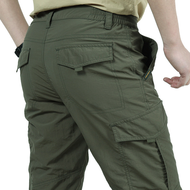NEW Musim Semi Musim Gugur Pria Luar Ruangan Cepat Kering Celana Hiking dan Berkemah Celana Tipis Mendaki Memancing Jahat Anti-Wear Celana ukuran M-XXXXL