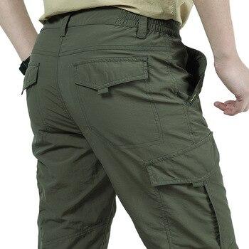 496f1c1eab Nueva primavera y otoño al aire libre de los hombres de secado rápido  pantalones de senderismo y Camping pantalones delgados escalada pesca  absorbe ...
