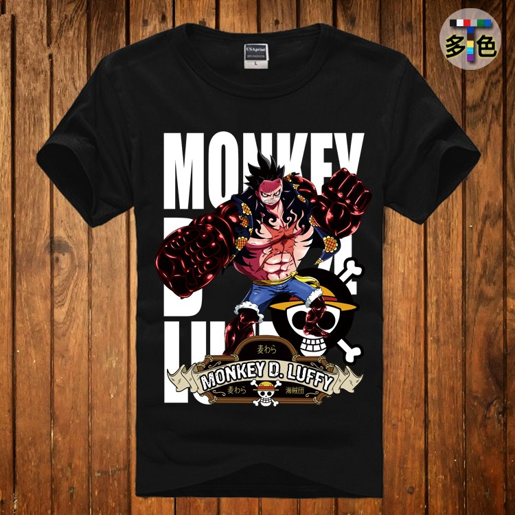 New Summer Cotton Short Sleeve Tops Tees Japanese Anime Luffy Cosplay T Shirt One Piece T-shirt