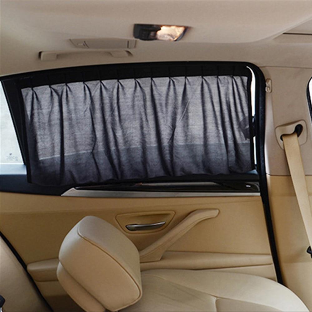 Car interior curtains - Car Sun Shade Auto Interior Accessories Car Curtains For Side Window Black Sunshade Uv Protection Car