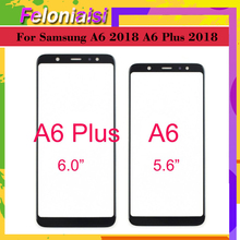 10Pcs/lot Touchscreen For Samsung Galaxy A6 2018 A600 A6+ Plus A605 A605F Touch Screen Front Glass Panel Outer Lens