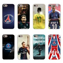 French Paris Saint Germain PSG Cover for iPhone X Neymar Soft silicone Phone Cases For iPhone 6 6S Plus 7 7Plus 8 8 Plus 4.7 5.5(China)