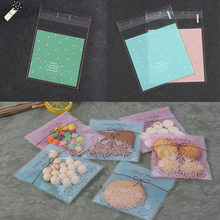Cookie Baking Gift Candy Bag Fresh Dots Moon Cakes Korean Pastry Packaging Bags Self Adhesive Pouch Biscuit(China)