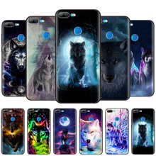Noir coque en silicone Housse pour Huawei Honor 10i Y7 Y6 Y5 Y9 8X 8C 8S 9 10 Lite Pro 2018 2019 V30 V30Pro Classique Cool Loup(China)