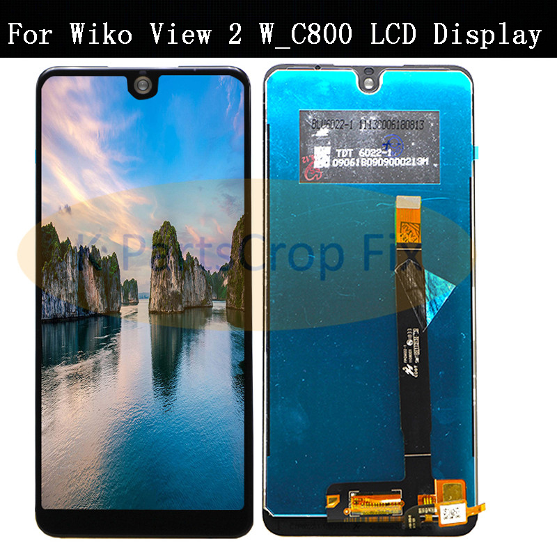 For Wiko View 2 w_c800 LCD Display with Touch Screen Digitizer Mobile Phone Accessories For Wiko View 2 Lcd W_C800 LCD Display