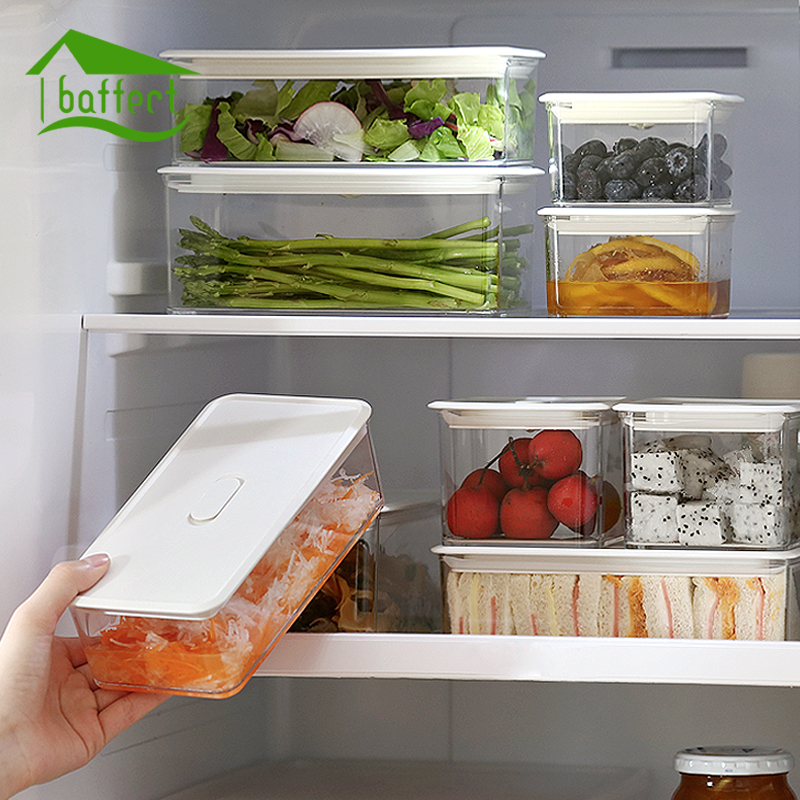 New Fridge Storage Rake Freezer Food Storage Boxes Pantry Storage Organizer Bins Container Space saving Fridge Storage Box-in Storage Boxes u0026 Bins from Home ... & New Fridge Storage Rake Freezer Food Storage Boxes Pantry Storage ...
