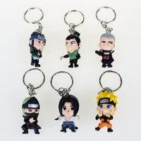 6 sztuk Zestaw Naruto Anime Cartoon Brelok Rysunek Wisiorek Pierścień Brelok Darmowa Wysyłka