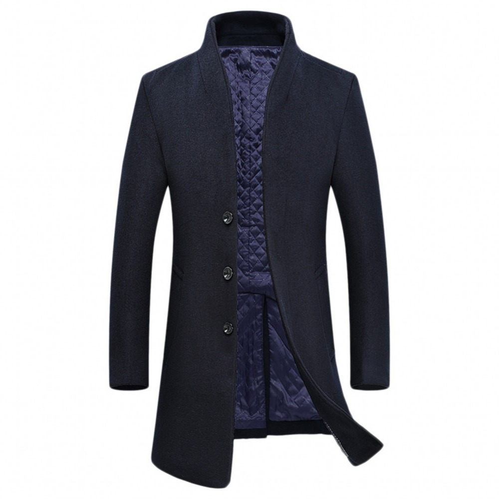 Hot Selling Men s Coat 5 Color Available Long Sleeves Stand Collar Men s Woolen Jacket