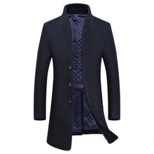 Hot Selling Men's Coat 5 Color Available Long Sleeves Stand Collar Men's Woolen Jacket for Fall Winter