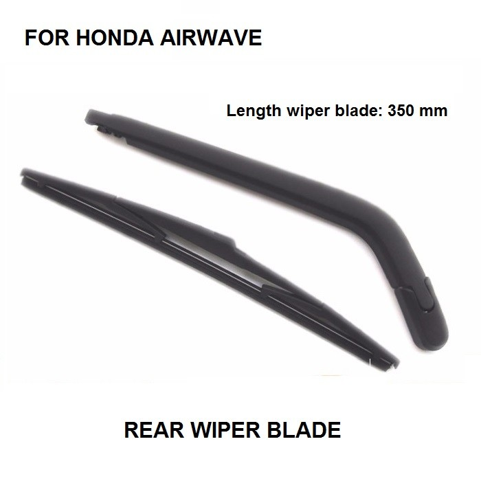 Limpiaparabrisas trasero y cuchillas 14/pulgadas 350/mm negro Conjunto de 2