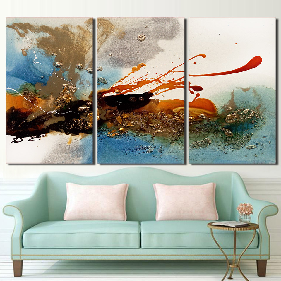 Graffiti art home decor - 3 Piece Canvas Art Ink Sprinkle Canvas Painting Graffiti Art Posters And Prints Wall Picture For