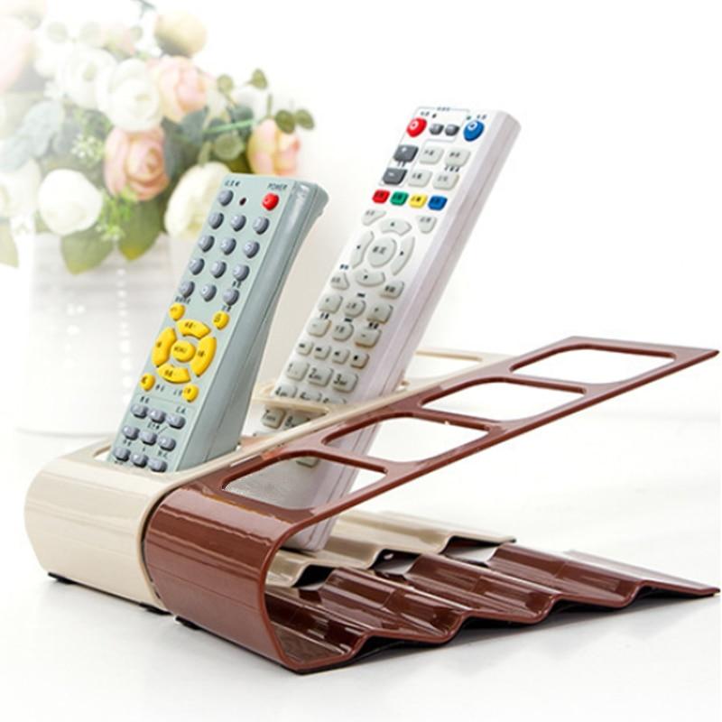 4 Grids Remote Controller Storage Rack Home Device Remote Control Holder Shelf Cell Phone Stand Desktop Storage Box Organizer