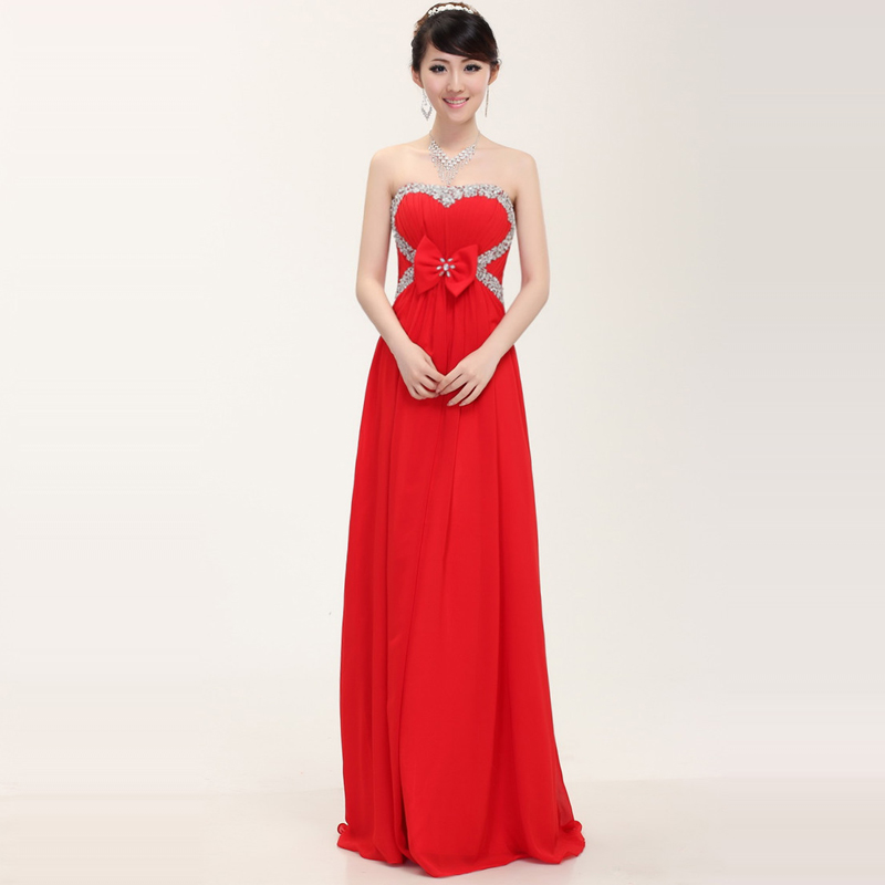 For plus size women long evening dress bride prom party for Plus size dresses weddings and proms