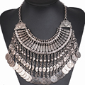 New Fashion Coin Collar Fringe Chain Necklace Bohemian Statement DIY Ethnic Necklaces Festival Turkish Jewelry YJ100#