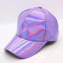 Shiny Metallic Snapback Cap