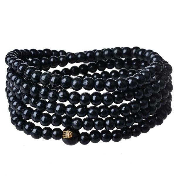 High Grade 216pcs 6mm Wood Prayer Beads Bracelet Buddhist Buddha Pray Bangle Fine Jewelry For Women Men In Charm Bracelets From Accessories On