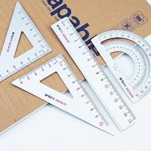 Линейка из алюминиевого сплава, набор студенческих канцелярских принадлежностей, линейка 15 см, треугольная линейка, измерительный Гониометр, набор треугольных пластин, правило