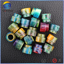 Sailing vape Epoxy resin drip tips multi color electronic cigarette top cap for Twisted Messes V2 rda atomizer 10pcs