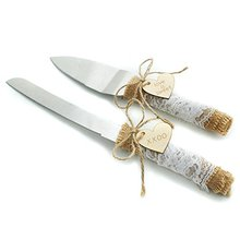 Wedding Cake Knife, Rustic Country Serving Set, Knife Barn Decorate