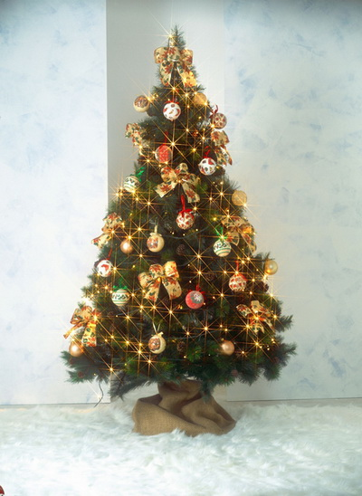Beautiful Christmas Tree Theme Background Decoration For Home - christmas theme background
