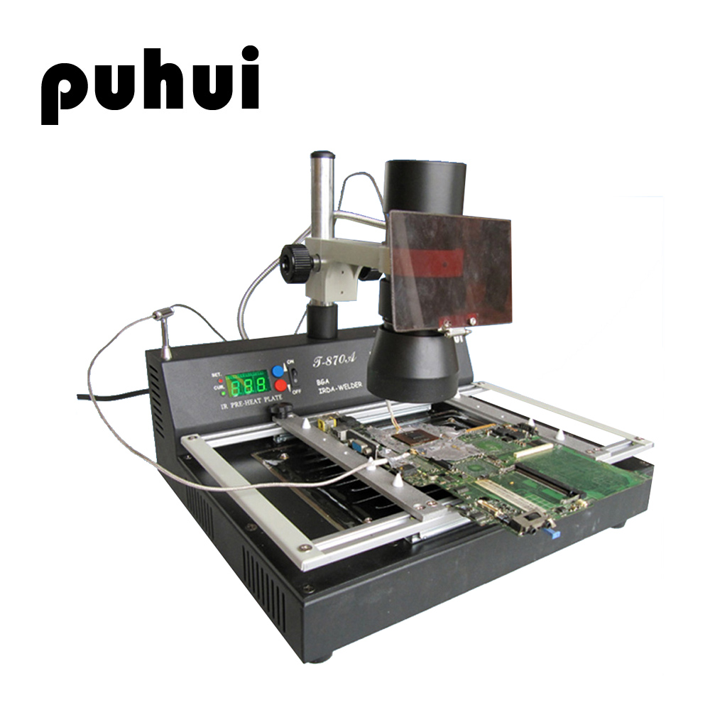 PUHUI T 870A 1000W BGA Rework Station IRDA Welder Infrared Soldering Computer Motherboard North And South Bridge Maintenance