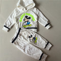 1-4 years girls/ boys micky mouse clothes kids  autumn clothing set 2 pcs coat + pants girls warm pullover hoody set   S029