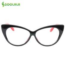 SOOLALA Cat Eye Reading Glasses Women Men Lightweight Presbyopic +0.5 0.75 1.0 1.25 1.5 1.75 2.0 2.5 3.0 3.5 4.0