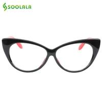 b92b40fba6096 SOOLALA Cat Eye Reading Glasses Women Men Lightweight Presbyopic Reading  Glasses +0.5 0.75 1.0 1.25