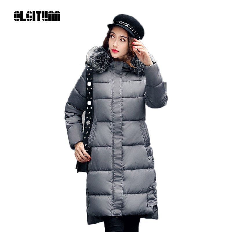 все цены на  OLGITUM 2017 cotton new women in the long section of the Korean version of the winter women's clothing coat women's tide CC324  онлайн