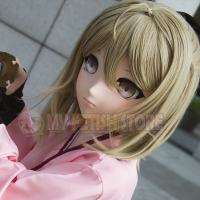(MSM 01)Sweet Girl Resin 3/4 Full Head Customize Cosplay Japanese Role Play Anime MSM 01&MSM 02 Kigurumi Mask Crossdresser Doll