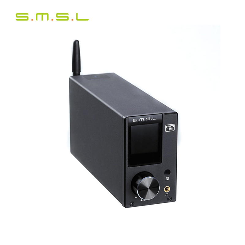 SMSL AD18 Multi-Funzione Bluetooth 4.2 HIFI Digital Audio Amplificatore 80 W * 2 Ottico/Coassiale USB DAC Decoder regolazione EQ