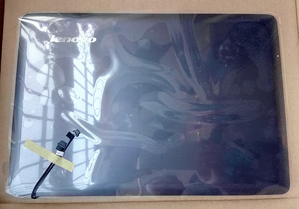 New Oirg Lenovo Ideapad U410 Lcd Rear Cover Back Top Lid 3CLZ8LCLV30 Gray Non Touch