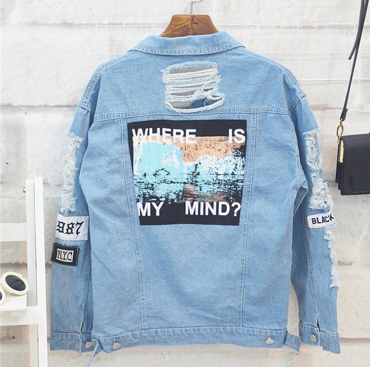 Kpophome stampa con Cui è la mia mente Giacca di jeans jeans Outerwears autunno e di inverno a maniche lunghe