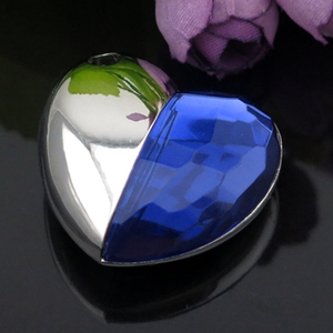 Blue Diamond Heart Style Pendrive 64gb <font><b>USB</b></font> <font><b>Flash</b></font> <font><b>Drive</b></font> 1TB <font><b>2TB</b></font> <font><b>Pen</b></font> <font><b>Drive</b></font> 128gb 16gb Memory Stick <font><b>Usb</b></font> Creativo Gadget Luxury Gift image