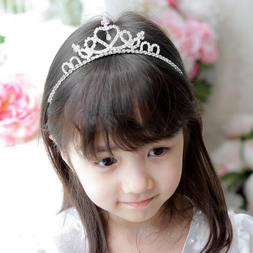 Kids Flower Girl Wedding Prom Tiara Crown Headband Kid Size Baby