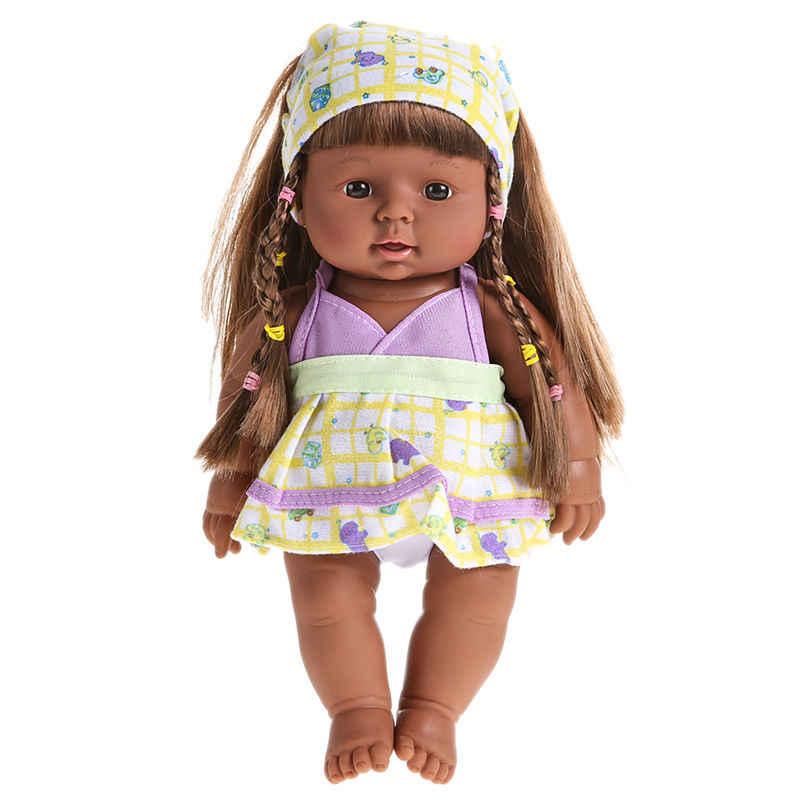 """28 ס""""מ חמודה Reborn רך ויניל סיליקון כמו בחיים ללוות בובת צעצוע יפה יילוד תינוק מדבר קול צעצוע 319 p"""