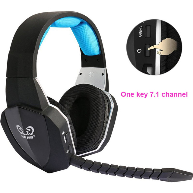 US $53 57 69% OFF|HUHD 2019 New wireless headphone Optical Wireless Gaming  Headset for XBox 360/one,PS4/3,PC,earphones,Upgraded 7 1 Surroun Sound-in