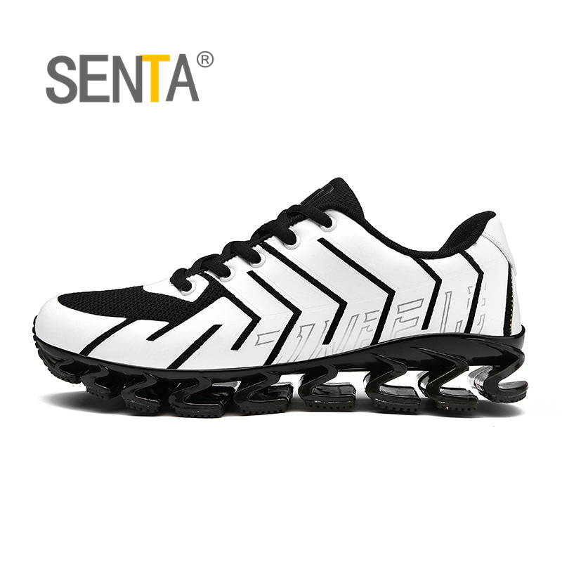 SENTA   Men running shoes Athletic Sport Sneakers Blade Sole Cushioning Breathable Mesh Sneakers warrior Zapatillas hombre