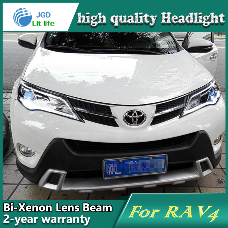 Car Styling Head Lamp case for Toyota RAV4 2013 LED Headlights DRL Daytime Running Light Bi-Xenon HID Accessories сиденья для унитаза little angel детская накладка на унитаз la1590бл 20ps