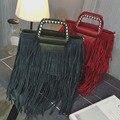 Мода новые сумки Качества PU кожа Женщины сумку Корейский бахромой случайные личности плече сумка Темперамент девушки Женская сумка