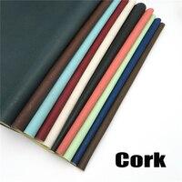 Cork Fabric 70 50cm 27 5 19 6inch Natural Brown Black Blue Green Pink White Cork