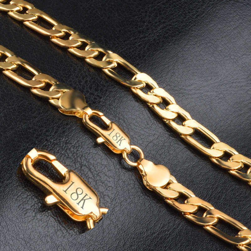 Modyle 2019 New Men Punk Necklace Chains Fashion Solid Gold Color Filled Cool Necklace Chain Charm Unisex Jewelry Wholesale